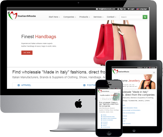 Italian fashion wholesale: clothing, shoes, handbags, fashion accessories manufacturers and brands
